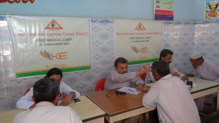 K-Electric #ujala collaborated with MALC for health camps.