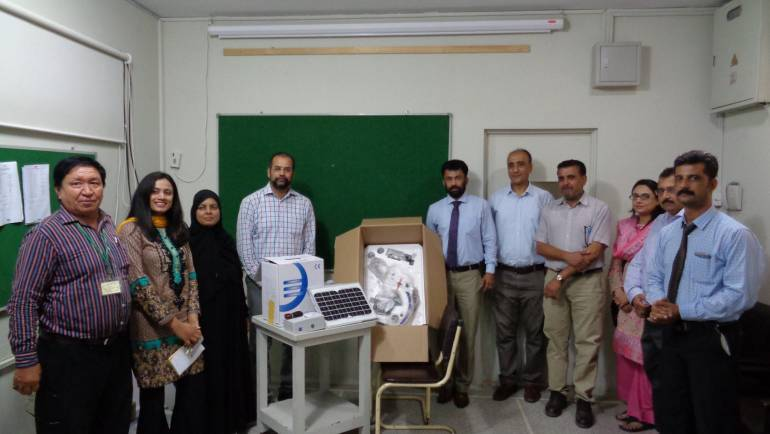 Provincial Tuberculosis Program (PTP)- Sindh donated 7 microscopes among them 2 are LED microscopes to MALC.