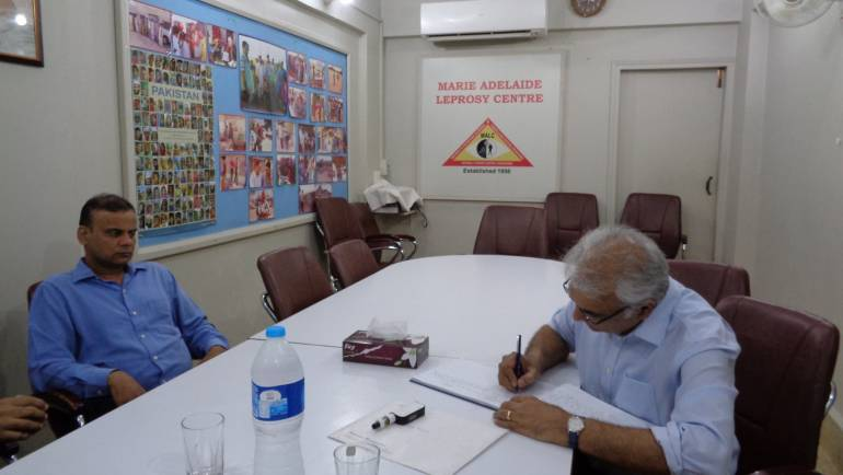 Mr. Zaheer Adamjee visited MALC for condolence and a briefing on the ongoing projects.
