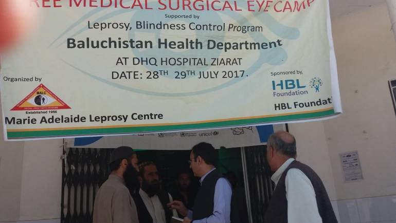 MALC conducts an Eye Surgical Camp in Ziarat supported by Habib Bank Ltd Foundation.