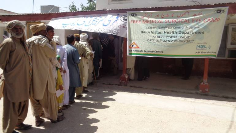 MALC conducts an Eye Surgical Camp in Kalat supported by Habib Bank Ltd Foundation.