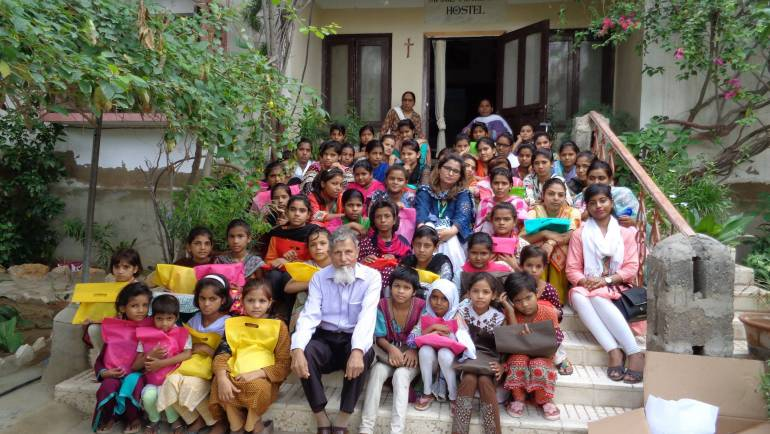 A gift of hope was distributed among the girls at Manghopir hostel.