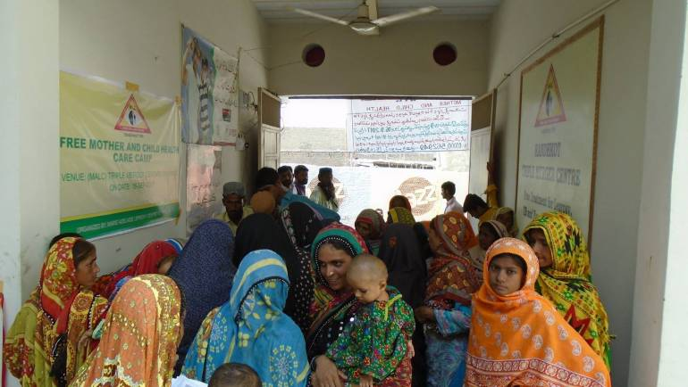 MALC held a camp for Mother and Child Health at Kandhkot Centre.