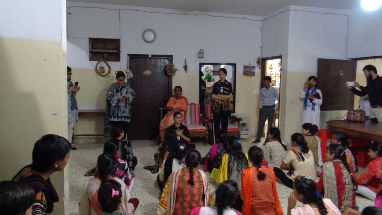 Self defense session held for the girls of MALC Hostel at Manghopir.