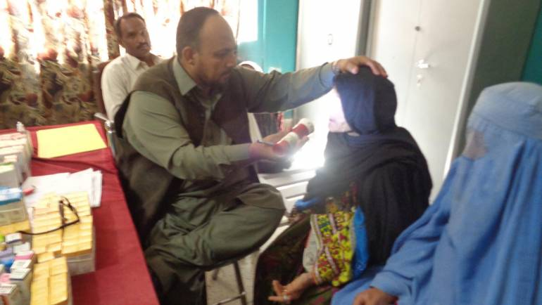 MALC conducts an Eye Surgical Camp in Killa Saifullah supported by Habib Bank Ltd Foundation.