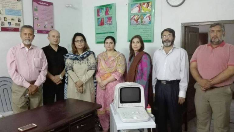 An ultrasound machine was handed over at Hamqadam Community Clinic, for MnCH at Khewra sponsored by ICI Foundation Pakistan and run and managed by MALC.