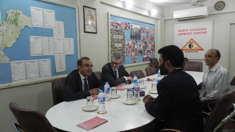 Mr. Eamonn O' Shaughnessy- New Zealand High Commissioner to Pakistan and Mr. Moin Fudda- Honorary Consul General New Zealand Karachi, visited MALC Hospital.