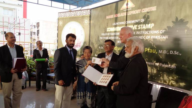 Launching Ceremony of commemorative stamp issued by Government of Pakistan to honour Dr. Ruth Pfau.