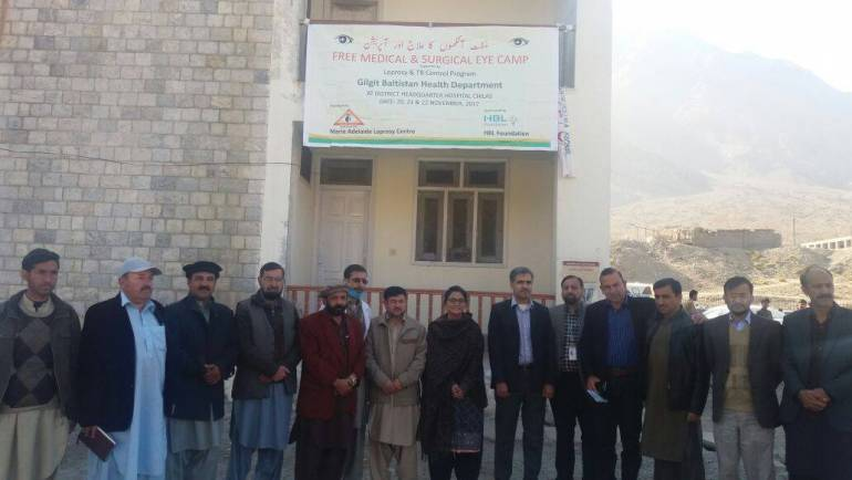 MALC organized a Free Surgical Eye Camp at Chilas – Diamer District Gilgit Baltistan sponsored by HBL Foundation.