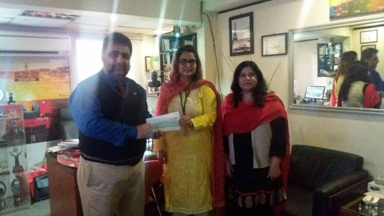 SSGC presented a cheques for Gawadar and Mirpurkhas centre's adoption.
