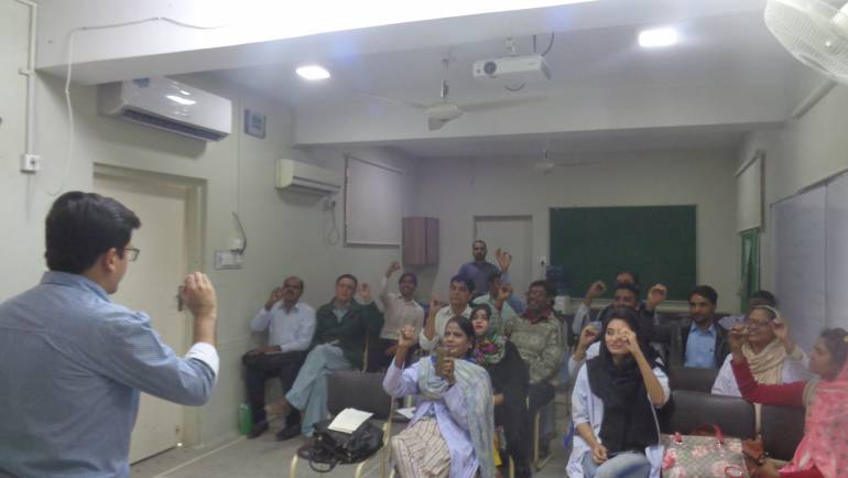 Under CBID initiative, a Sign Language Training session was arranged for the field staff of MALC.
