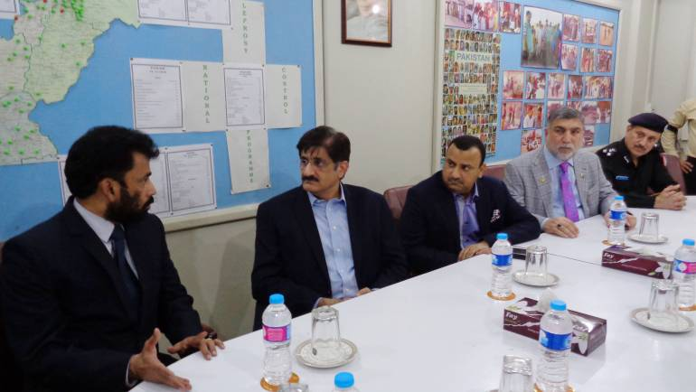 Mr. Murad Ali Shah- Chief Minister Sindh visited MALC for the condolence meeting on the sad demise of Dr. Pfau.
