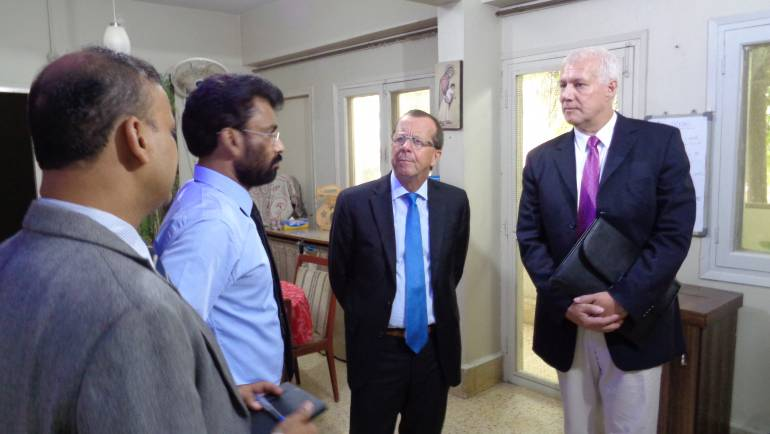 Ambassador of the Federal Republic of Germany, Mr. Martin Kobler along with Consul General of Germany to Karachi visits MALC for condolence.