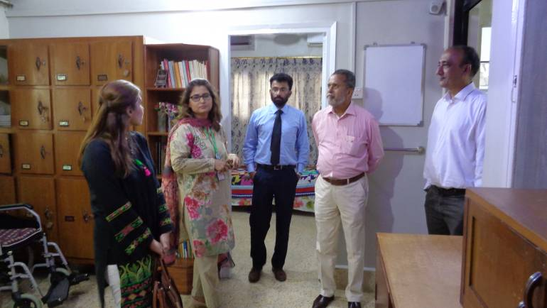Friends from ICI Pakistan ltd visited MALC for condolence on sad demise of Dr. Pfau.