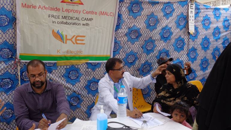 MALC holds Health Camp in Shershah in collaboration with K-Electric.