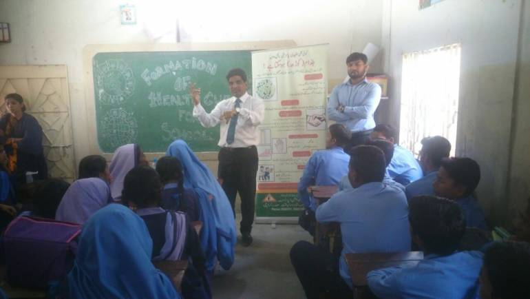 Formation of Health Clubs in schools by Health Education Department.