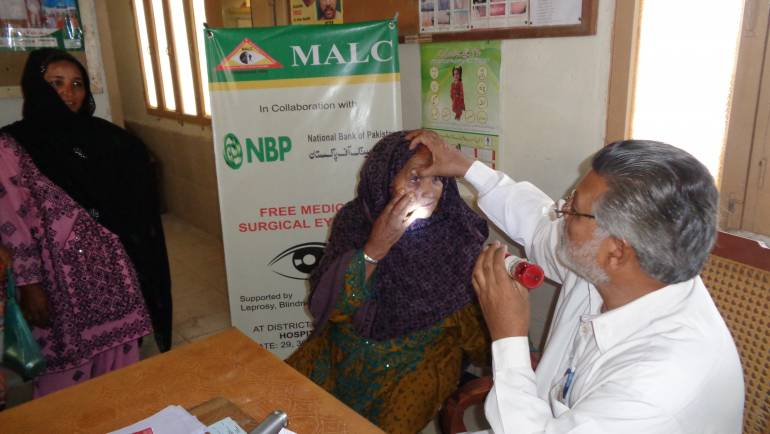 MALC conducts an Eye Surgical Camp in Uthal-Baluchistan supported by National Bank of Pakistan.