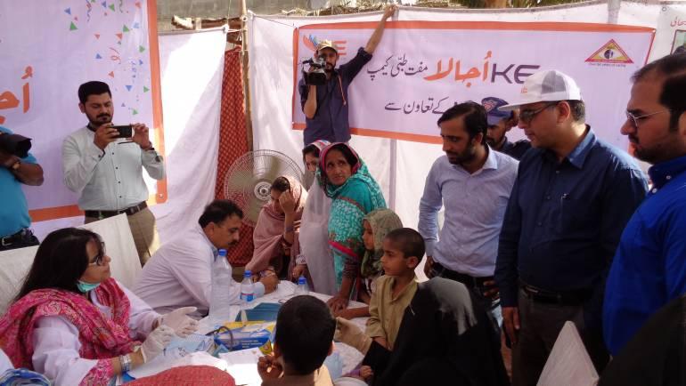 K-Electric Medical Camps in Karachi