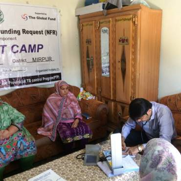 Chest camps for TB detection in selected districts of Azad Kashmir and Gilgit-Baltistan