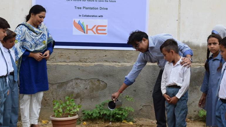 Tree plantation drive in collaboration with K-Electric