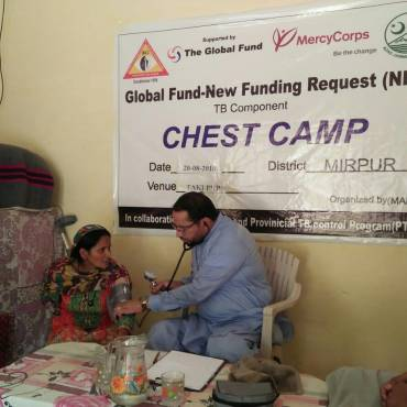 Chest Camps for TB detection in selected districts of Azad Kashmir, Gilgit-Baltistan, and Khyber Pakhtunkhwa