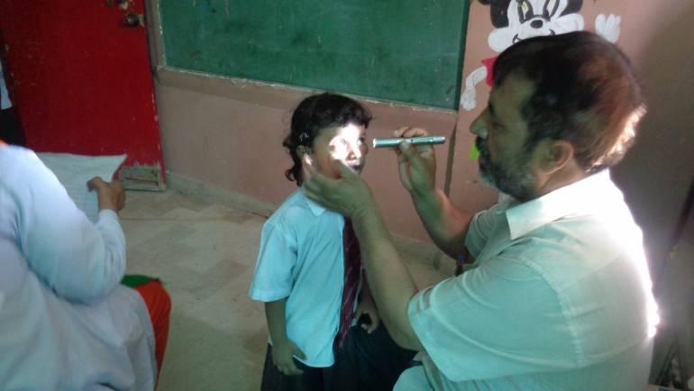 Eye screening at St. Mary's School