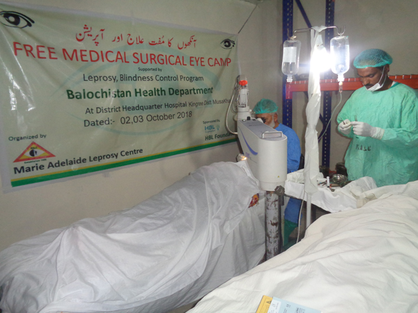 Eye Surgical Camp in Kingree, Balochistan