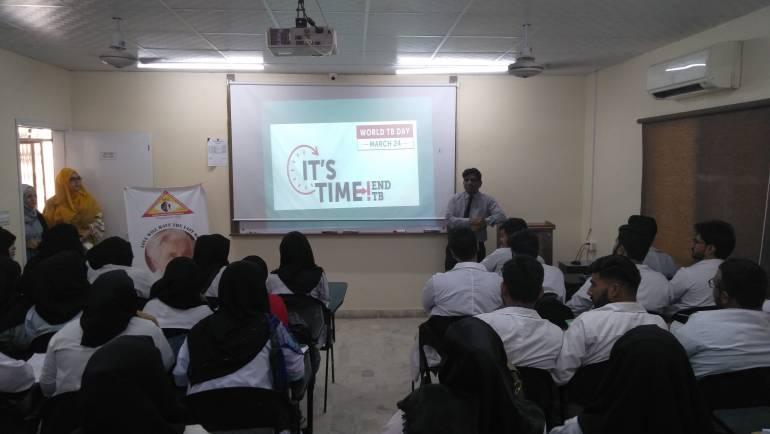 TB Awareness Session at ISRA University of Rehabilitation Sciences, Gulistan-e-Johar Karachi