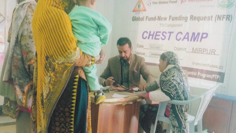 Chest Camps for TB detection in selected districts of Azad Kashmir