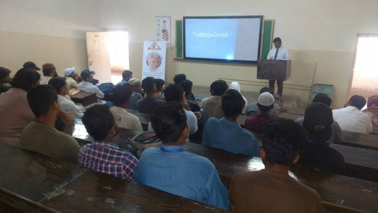 TB Awareness Session at Pakistan Central Homeopathic College Nazimabad Karachi