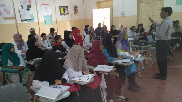 TB Awareness session at St. John Homeopathic Medical College Saddar Karachi