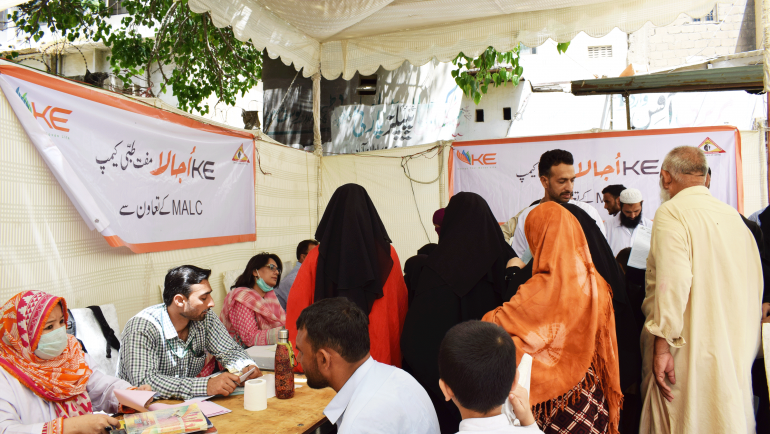 K-Electric Health Camp in Sultanabad, Karachi