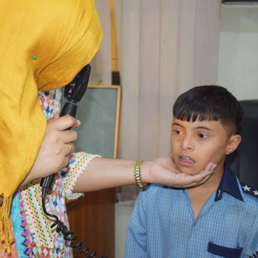 Children with Disabilities from Rehabilitation Centre for Multiple Handicapped Children (RCMHC) screened for eye conditions at MALC