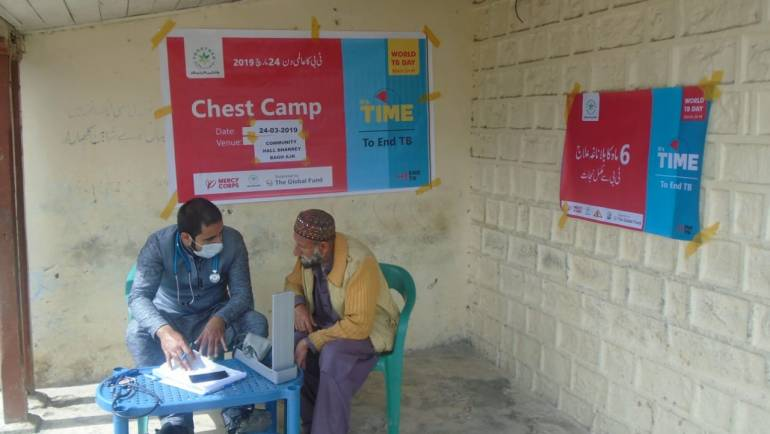 Chest Camps for TB detection in selected districts of Azad Kashmir, Gilgit-Baltistan and Khyber Pakhtunkhwa