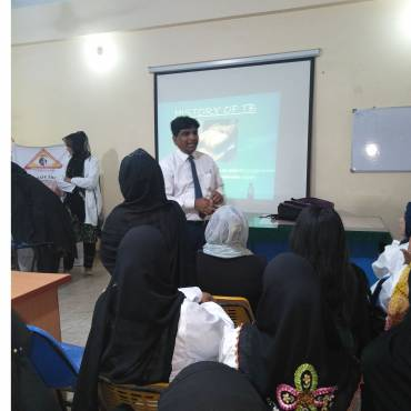 TB awareness session at Government Vocational Training Centre, Korangi – Karachi