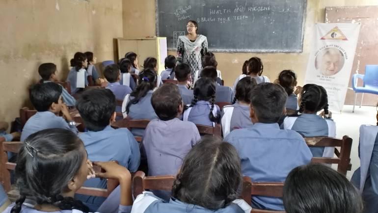 Awareness session on Leprosy, Health & Hygiene and Eye Screening at St. Theresa School, Landhi Korangi