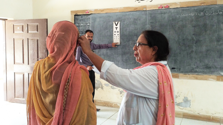 Eye screening activity and awareness session on Leprosy, Heath and Hygiene at Govt. Primary Sindhi Boys School