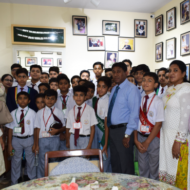 Students from St. Lawrence's Boys School visit MALC