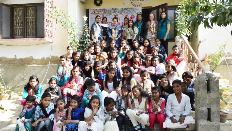 Christmas Party at the Girls' Hostel, Manghopir – Karachi