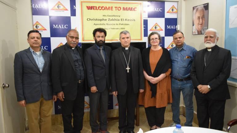 Apostolic Nuncio to Pakistan visits MALC