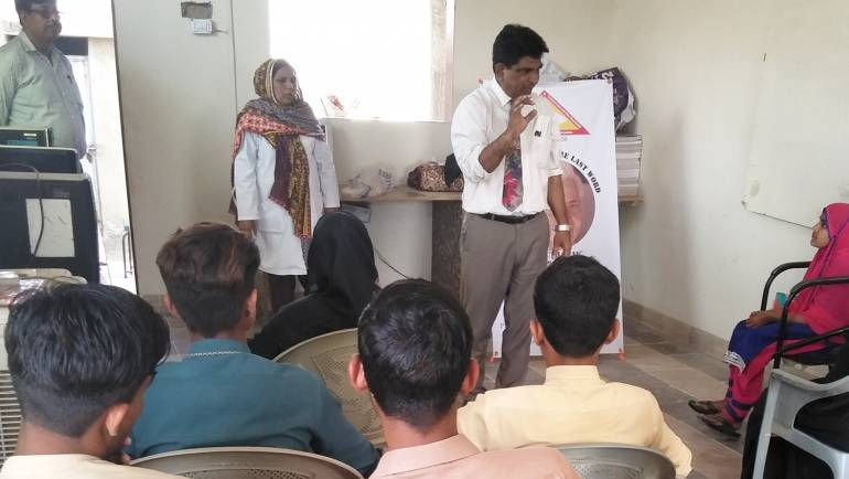 Leprosy/ TB awareness session at Somar Kindyani Goth, Malir