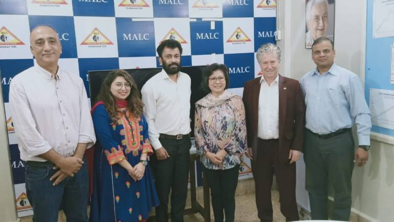 Mr. and Mrs. Emil Wyss visit MALC