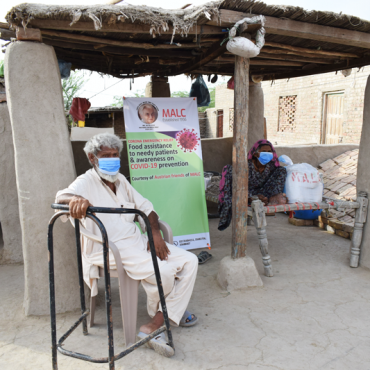 Food Assistance to needy patients in Tando Jan Muhummad, Sindh, through the courtesy of Austrian friends of MALC