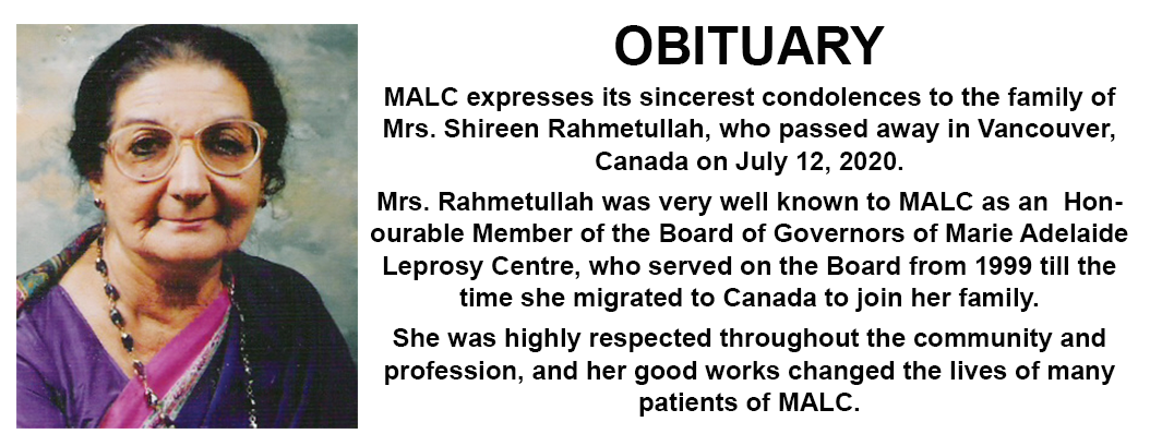 OBITUARY – Mrs. Shireen Rahmetullah