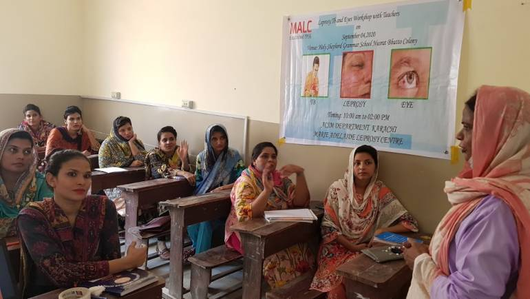 Leprosy/ TB/ Blindness Control workshop for teachers at Holy Shepherd Grammar School, Nusrat Bhutto Colony