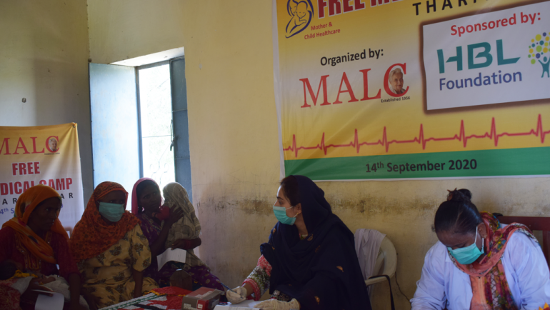 Medical Camp in Dabhro U/C Jhirmirio Taluka Diplo Dist. Tharparkar in collaboration with HBL Foundation