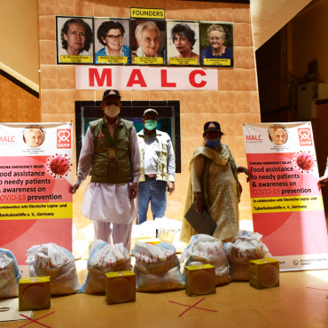 Food assistance to needy patients in collaboration with DAHW, Germany