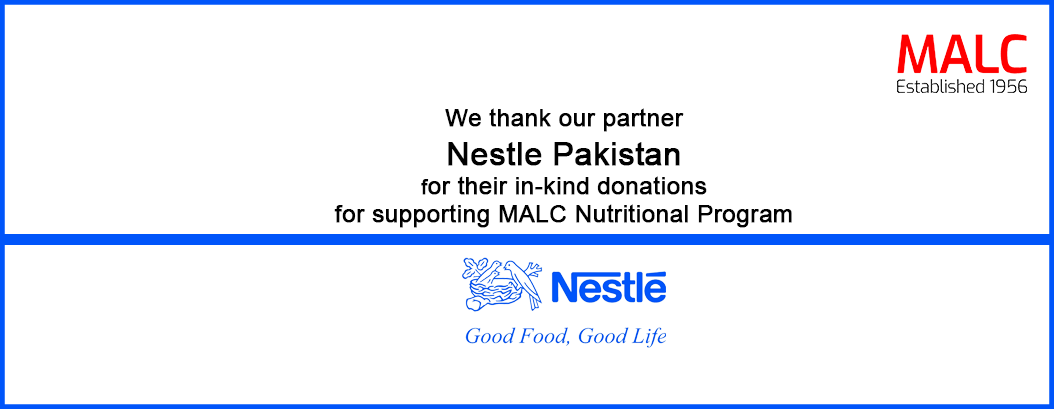 Nestle Pakistan supports MALC Nutritional Program