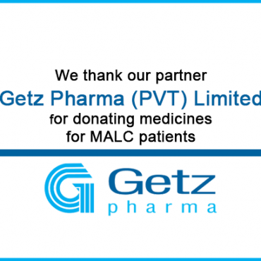 Getz Pharma (PVT) Limited supports MALC