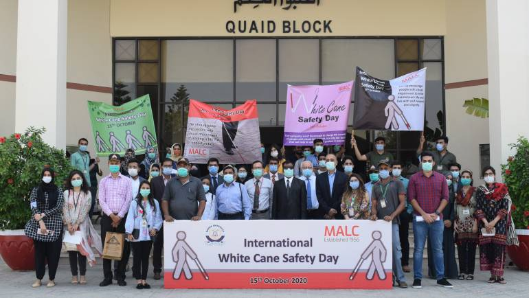 White Cane Safety Day in collaboration with Bahria University, Karachi Campus